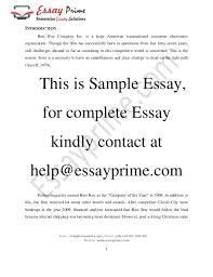 strategic management essay sample 4