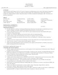Maintenance Technician Resume Adorable Manufacturing Technician Resume Netdoma