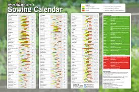 Companion Planting Chart Uk Poster Large Sowing Calendar When2plant Com