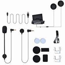 Fodsports FX8 motosiklet kask interkom yüklemek paketi Bluetooth kulaklık  mikrofon standı aksesuarları