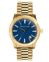 cheap monday michael kors runway gold watch in metallic for men lyst gallery men s gold watches