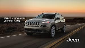 2018 Jeep Cherokee Owner's Manual