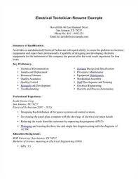 electrical technician resume sample - Sample Resume For Electrical  Technician