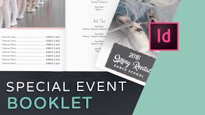 Booklet Program Template Lets Create An Event Program Booklet In Indesign