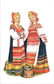 best russian costume illustrations images  illustration traditional dress from kaluga province russia