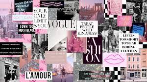 pink city fashion collage