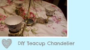 diy adorable vintage teacup chandelier