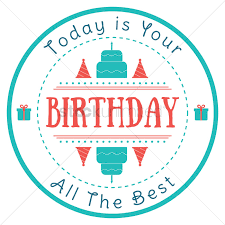 happy birthday design happy birthday label design vector image 1799574 stockunlimited