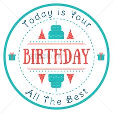 Happy Birthday Label Design Vector Image 1799574 Stockunlimited