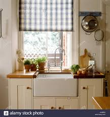 Sink And Bench In A Country Style Kitchen Stock Photo 148360396 Alamy