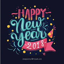 happy new year 2018. Plain 2018 Happy New Year 2018 In Blue And Pink Letters Free Vector For New Year P