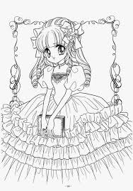 Elegant Black And White Anime Coloring Pages C Trademe