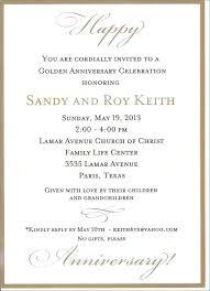 50th anniversary invitation wording wedding