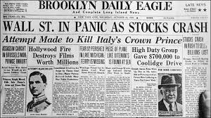 the great depression franklin d roosevelt a new dealer in hope  the bubble bubble 1929 brooklyn daily eagle newspaper front page headlines from 29 1929