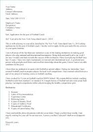 Cover Letter For A Football Coaching Job Cover Letter Ideas On