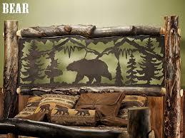 Lodge Style Bedroom Furniture 17 Best Images About Rustic Cabin Bed Frames Bedding On Pinterest