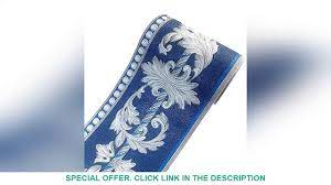 Self Adhesive 3D Blue Flower Waterproof ...