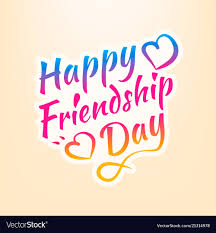 stock happy friendship day vector image