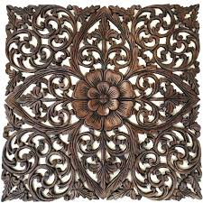 luxury ideas wood medallion wall art room decorating charming decor carved decorative pillows white