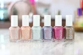 see swatches of the 2018 essie seaglass shimmers collection slashed beauty