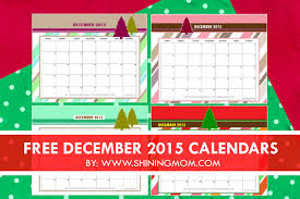 free printable 2015 monthly calendar with holidays december 2015 calendars christmas themed designs