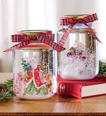 Mason Jar Decorations For Christmas Decorations Mason Jar Snow Globe In Santa An Snowman Design For 86