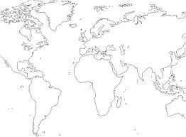World Map Coloring Page Printable With Countries Labeled Free Pages