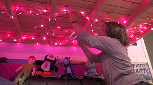 How to Put Christmas Lights in a Girl's Room : Getting Crafty - YouTube
