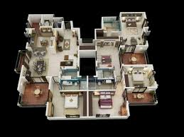 inspiring 3d 4 bedroom house plans 3d 4 bedroom modern house plans