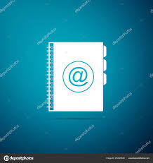 Address Telephone Book Address Book Icon Isolated On Blue Background Notebook