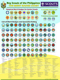 Emergency Preparedness Merit Badge Chart