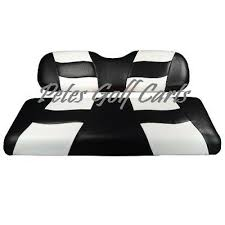 golf cart custom seat covers black