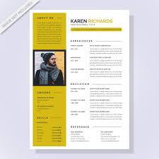 Modern Resume For Freshmen Modern Resume Templates With Flat Design Vector Premium