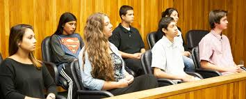 Live teen court jurors