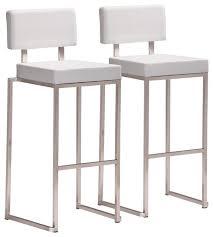 Nice Modern White Bar Stool Bar Stool Set Of 2 Contemporary Bar Stools And  Counter Stools