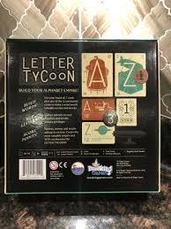 letter ty board game by breaking