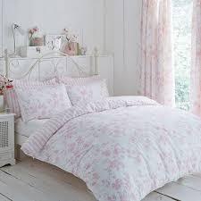 pink fl toile duvet cover set