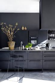 modern black kitchen cabinets. From Moody \u0026 Cozy To Modern Clean | A Dark Kitchen Can Still Be Your Black Cabinets T