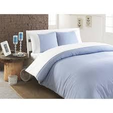 chevas luxury stripe 100 percent turkish cotton duvet cover white blue pencil stripes