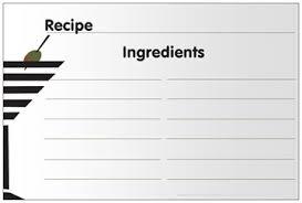 card recipe