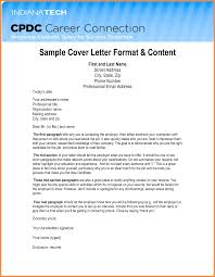 Letter Format Mail Resume Name