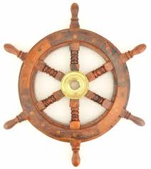 decorative wall hanging wooden ship wheel 12 3 4 wide