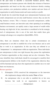 module one theory and concept of entrepreneurship studies learning markets and new forms of organization to satisfy human needs and wants mostly at a profit