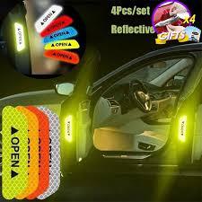 1Pcs Universal <b>Warning</b> Mark <b>Reflective</b> Tape Car Door Sticker ...