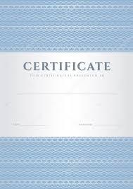 Голубой сертификат диплом об окончании шаблон оформления фон с  Голубой сертификат диплом об окончании шаблон оформления фон с шаблона гильоширование