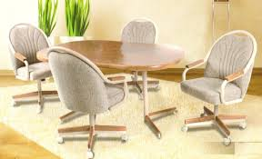 dining table chairs with wheels stunning kitchen table and chairs with wheels marvelous sets caster dining
