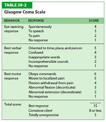 Glasgow Coma Scale Assessment Chart The Glasgow Coma Scale Gcs For First Aiders First Aid