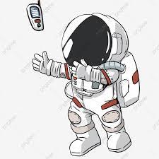 Astronaut Character Design Hand Drawn Astronaut Character Design Cartoon Creative
