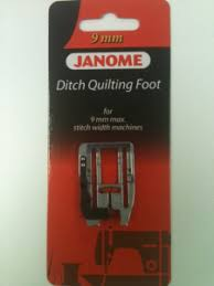 JANOME HORIZON MC 12000 – ANOTHER NEW FOOT: ACUFEED FLEX DITCH ... & NEW ACUFEED FLEX DITCH QUILTING FOOT - 9mm wide opening Adamdwight.com