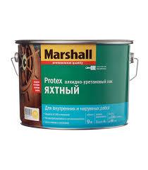 <b>Лак алкидно</b>-<b>уретановый</b> яхтный Marshall <b>Protex</b> бесцветный 9 л ...